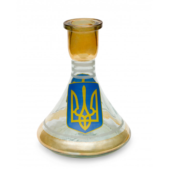"""Колба конусообразная широкая """"Тризуб"""" для кальяна (25см) - фото 1 - Kalyanchik.ua"""