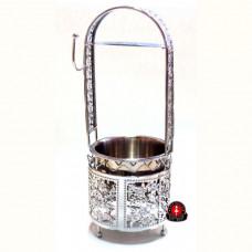 Корзинка для угля Amy Deluxe серебрянная, большая