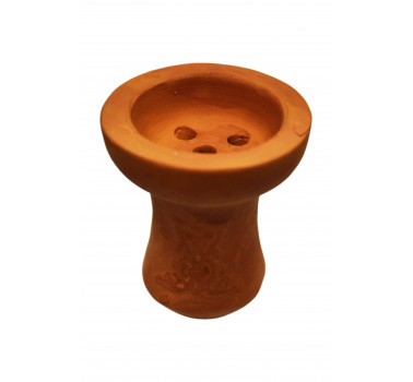 Чаша для кальяна с красной глины Барвинок 8,5х7,5х2см