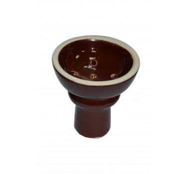Чаша для кальяна с белой глины класическая в глазури 10,5х7х1.5см