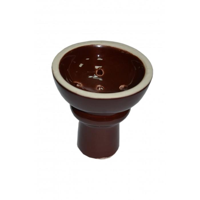 Чаша с белой глины  LEX класcическая в глазури - фото 1 - Kalyanchik.ua