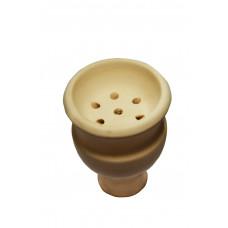 Чаша для кальяна Белая глина Jumbo, 9х7,5х2