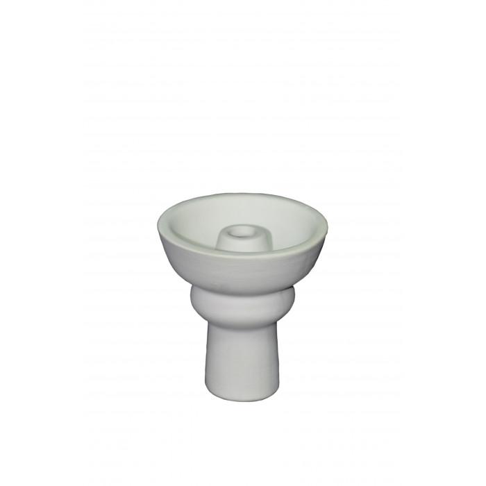 Чаша для кальяна с белой глины Phuunel (маленькая) 7,5х7х2см - фото 1 - Kalyanchik.ua