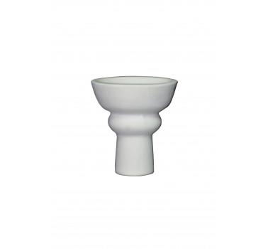 Чаша для кальяна с белой глины класическая 10,5х7х1.5см