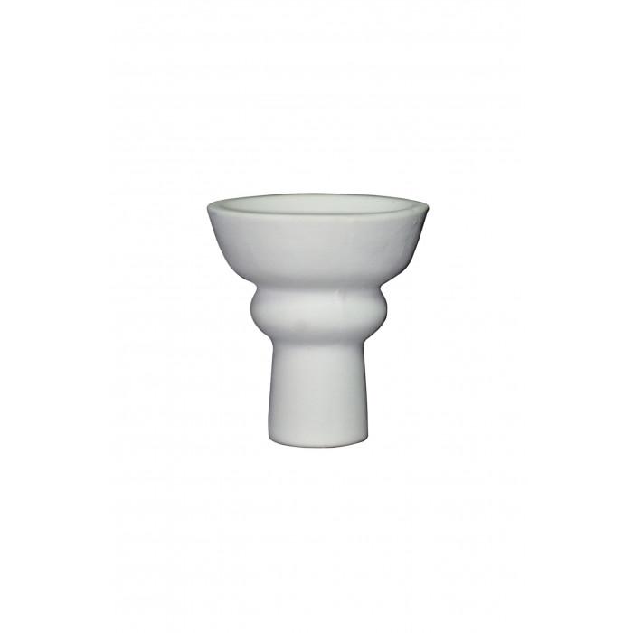Чаша для кальяна с белой глины класическая 10,5х7х1.5см - фото 1 - Kalyanchik.ua
