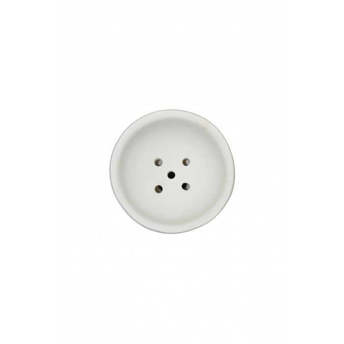 Чаша для кальяна с белой глины класическая 10,5х7х1.5см - фото 2 - Kalyanchik.ua