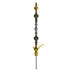 Шахта золотистая  для кальяна из 3 частей, 69см