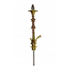 Шахта золотистая для кальяна из 2 частей, 44см