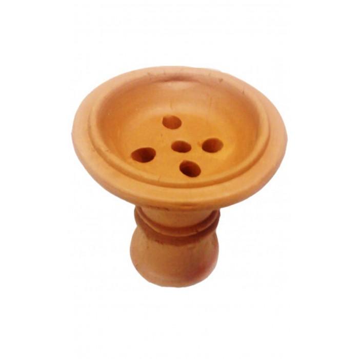 Чаша глиняная для кальяна 7,5х7,5х1,5см - фото 1 - Kalyanchik.ua