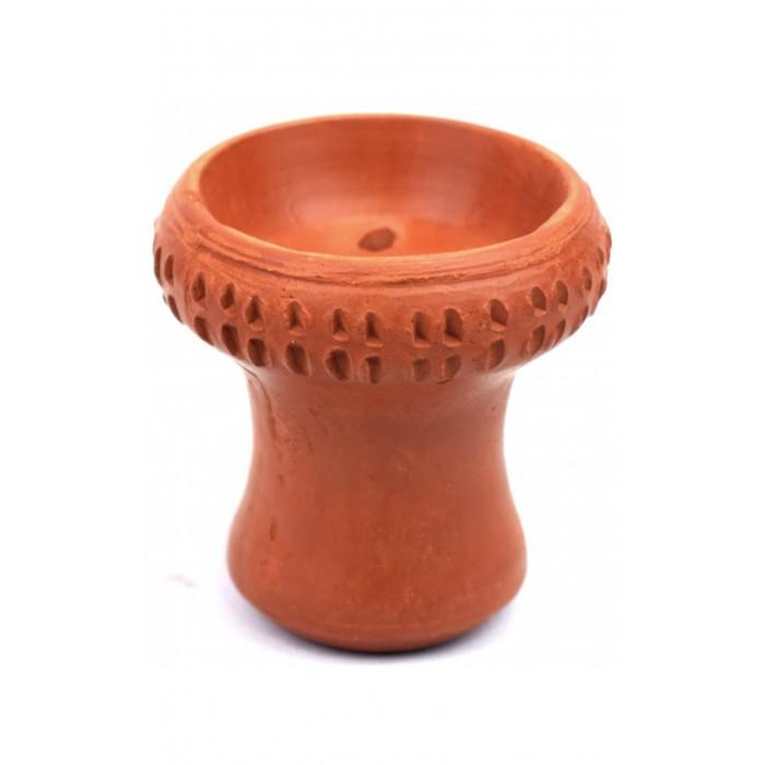 Чаша для кальяна с красной глины Paradise декоративная - фото 1 - Kalyanchik.ua