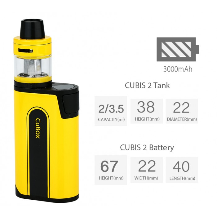Бокс мод Joytech CuBox with Cubis 2 Kit 3000mAh - фото 4 - Kalyanchik.ua