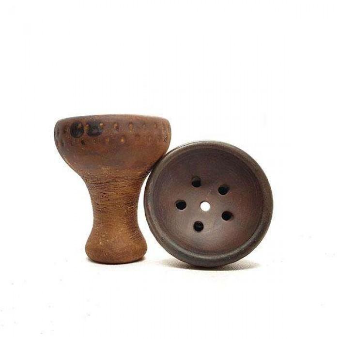 Чаша для кальяна с белой глины LEX Турка лофт - фото 1 - Kalyanchik.ua