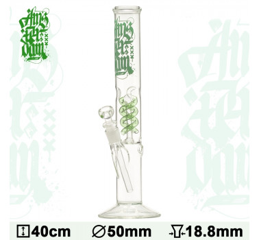 Бонг стеклянный Amsterdam Ice Noches - H:40cm- ?: 50/40mm-SG:18.8mm