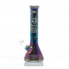 Бонг стеклянный Dope Bros BLACKOUT Series - Color Art II