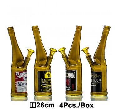Бонг стеклянный Beer Bottle - H:26cm