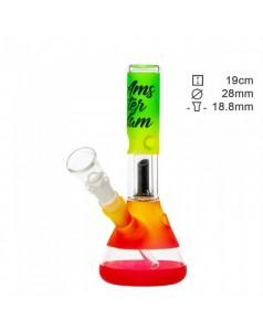 Бонг стеклянный Amsterdam RASTA CLUB Mini - H:19cm- ?:28mm
