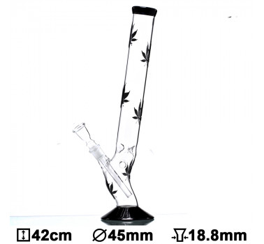 Бонг стеклянный Multi Leaf Bolt, 42см