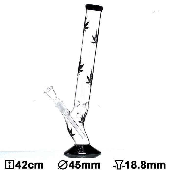 Бонг стеклянный Multi Leaf Bolt, 42см - фото 1 - Kalyanchik.ua