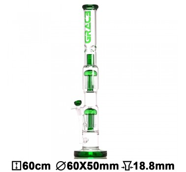 Бонг стеклянный Grace Glass LABZ Series   Haze Maze v2 Green H:60cm ?:55/45mm SG:18.8mm