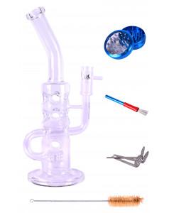 Бонг стеклянный Weedstar Lucky Lucke Glassbong Set 5 parts H:36cm- ?:35mm- Socket:18.8mm