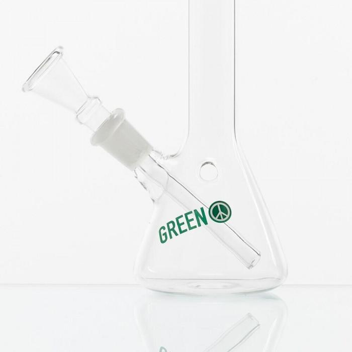 Бонг стеклянный Greenline  H;18,5 cm-Ø:21mm SG:14.5mm - фото 2 - Kalyanchik.ua