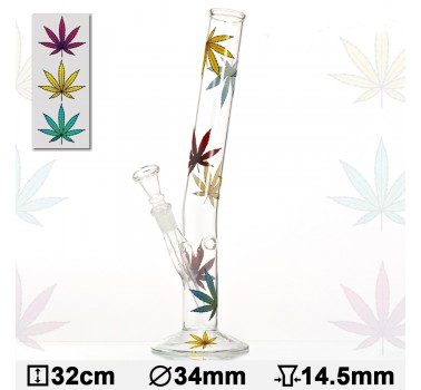 Бонг стеклянный HANGOVER Multi Leaf H:32cm-?:34mm-SG: 14,5mm