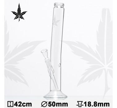 Бонг стеклянный Sand Leaf Hangover H:42cm - O:50mm PG:18,8mm