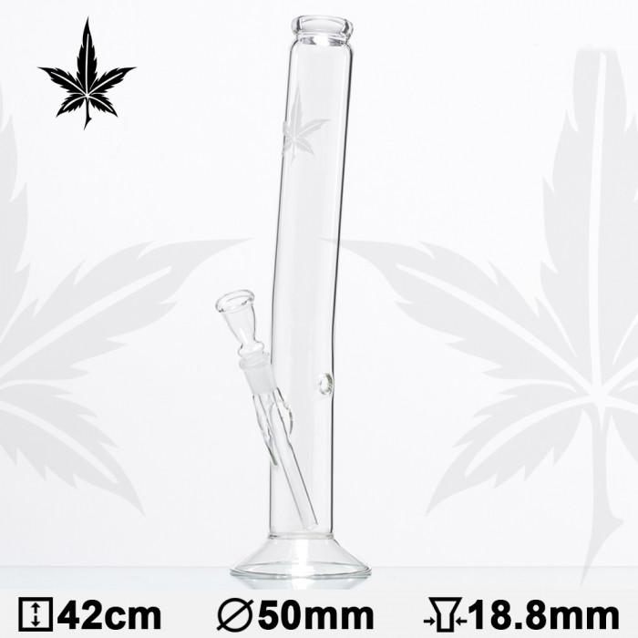 Бонг стеклянный Sand Leaf Hangover H:42cm - O:50mm PG:18,8mm - фото 1 - Kalyanchik.ua
