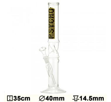 Бонг стеклянный Glass Psycho - H:35 - ?:40mm- Socket:14.5mm