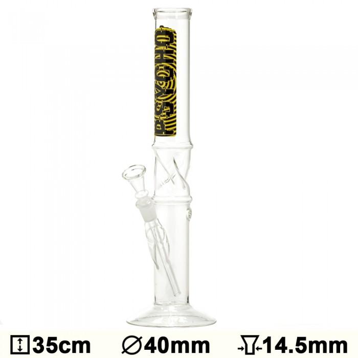 Бонг стеклянный Glass Psycho - H:35 - ?:40mm- Socket:14.5mm - фото 1 - Kalyanchik.ua