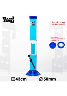Бонг акриловый Bud Boy H:43cm- O:50mm- WT:3mm