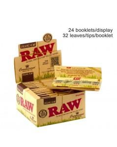 Бумага для самокруток RAW Connoisseur KS SLIM + TIPS