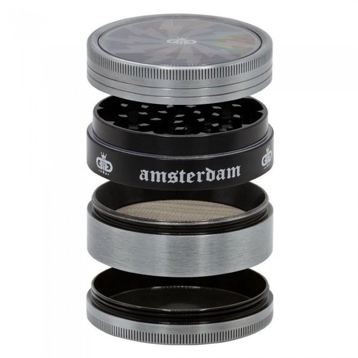Гриндер металлический Amsterdam Lightning 4part d:63mm - фото 1 - Kalyanchik.ua