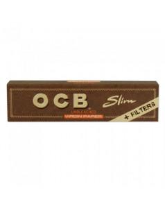 Бумага для самокруток OCB slim with TIPS