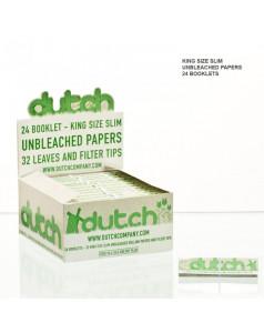Бумага для самокруток Dutch King Size + TIPS