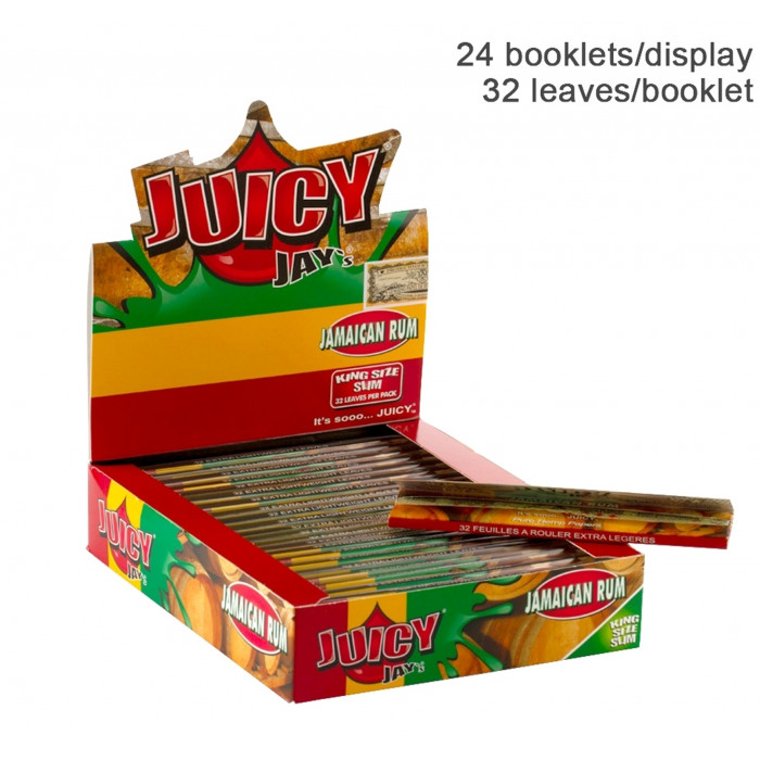 Бумага для самокруток King Size Juicy Jays Jamaican Rum - фото 1 - Kalyanchik.ua