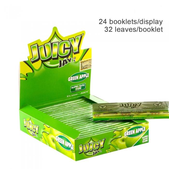 Бумага для самокруток King Size Juicy Jays Green Apple - фото 1 - Kalyanchik.ua