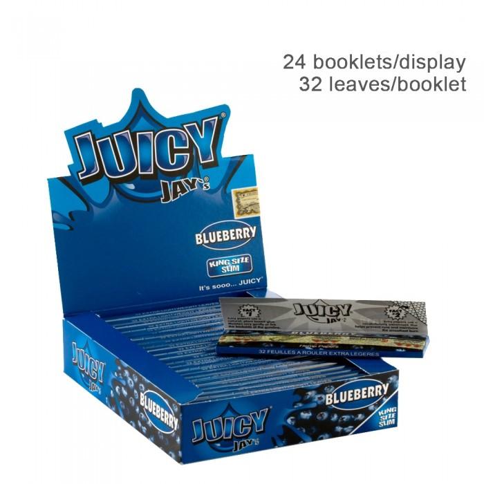 Бумага для самокруток King Size Juicy Jays Blueberry - фото 1 - Kalyanchik.ua