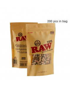 Фильтры RAW Authentic Pre-Rolled 200шт/уп