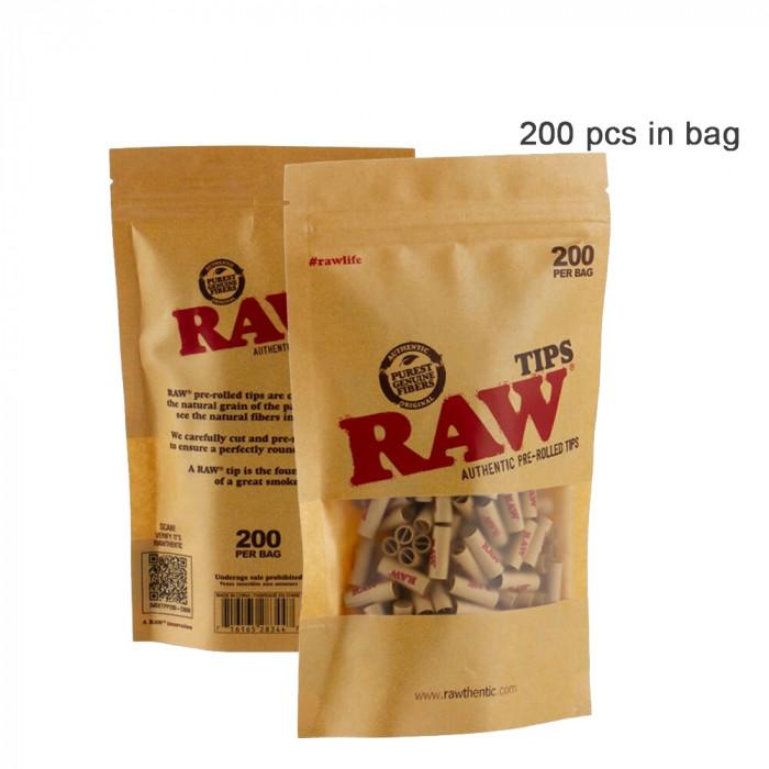 Фильтры RAW Authentic Pre-Rolled 200шт/уп - фото 1 - Kalyanchik.ua