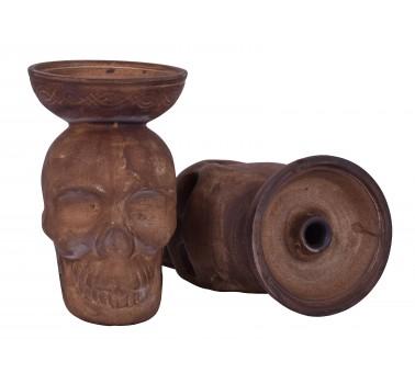 Чаша для кальяна с белой глины LEX череп