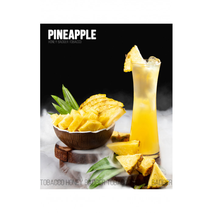 Табак для кальяна Honey Badger Pineapple (Ананас), Mild 40гр - фото 1 - Kalyanchik.ua