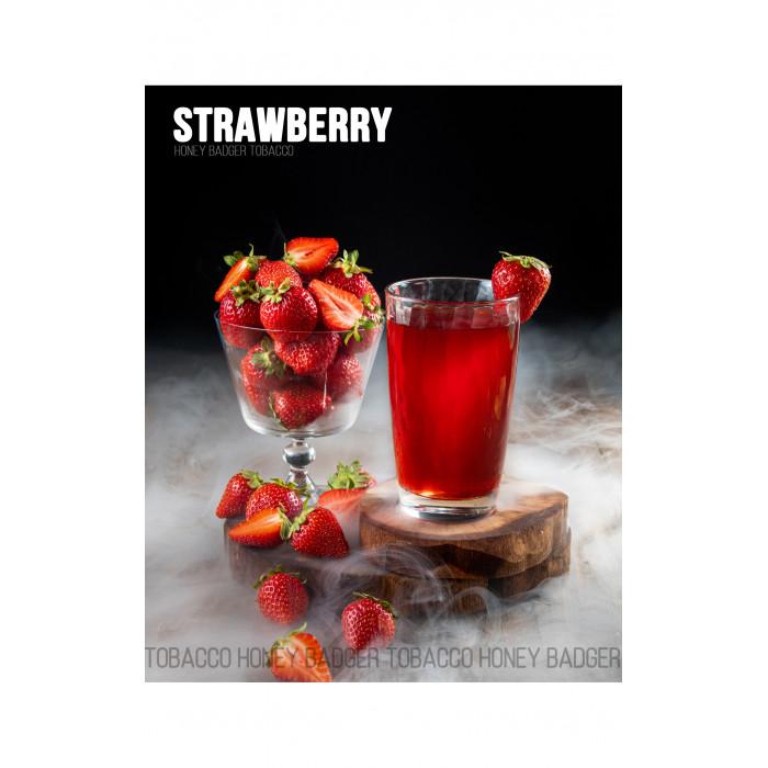 Табак для кальяна Honey Badger Strawberry (Клубника), Wild 40гр - фото 1 - Kalyanchik.ua