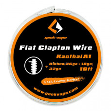 Проволка Geekvape, 10ft, Kantal A1, Flat Clapton Wire, 1м